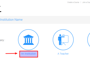 "Click on the ""Institution"" option"
