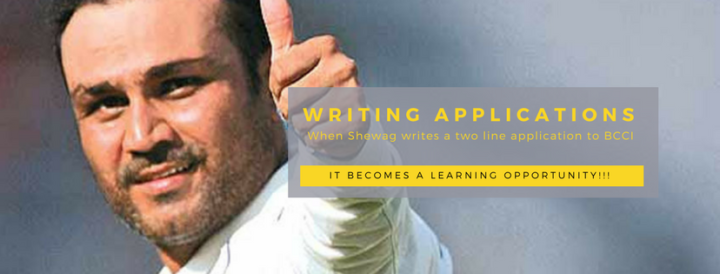 What does Virendra Sehwag have to do with Learning English at School?